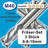 Schaftfräser Metall Kunststoff hochlegiert Z=4 3+4+6+8+10mm Fräsersatz